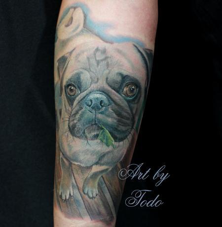 Tattoos - Pug Portrait - 88962