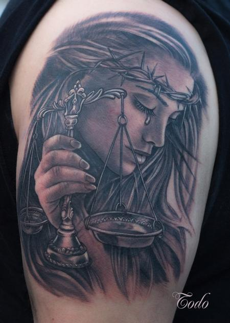 Tattoos - Lady Justice - 106128