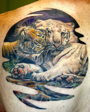 Tattoos - tigers - 45360