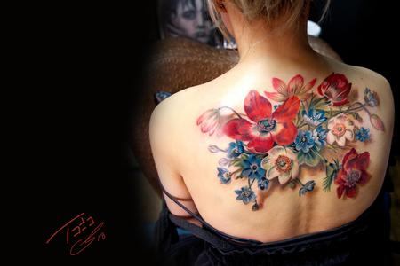 Tattoos - Antique Flowers - 132893