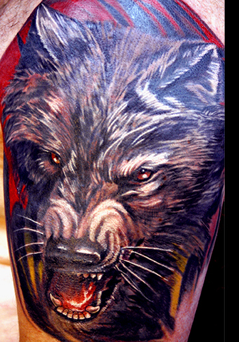 Tattoos - Wolf - 33202