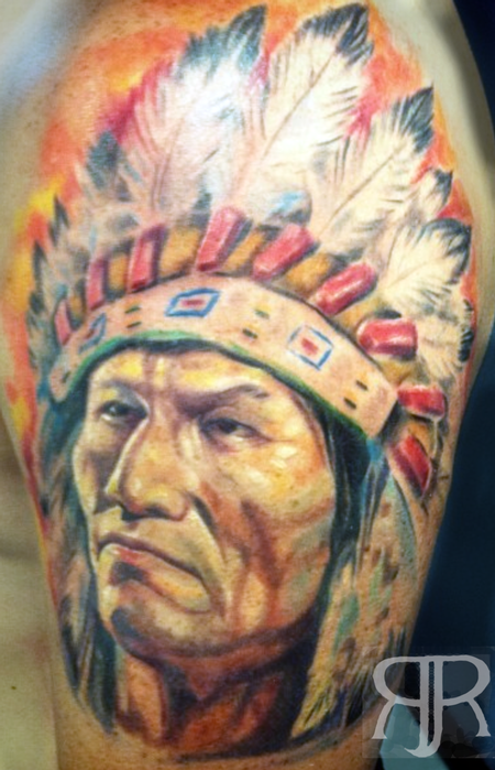 Tattoos - Indian Chief - 89424