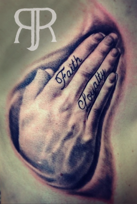 Tattoos - Praying hands - 89412