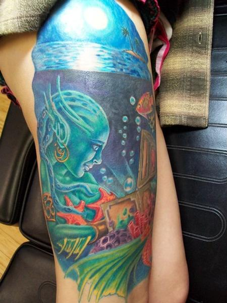 Tattoos - Sea Treasure Tattoo - 60581