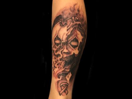 Tattoos - The face of cancer.  - 129300