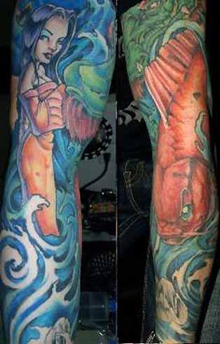 Tattoos - Koi Geisha Sleeve - 30988