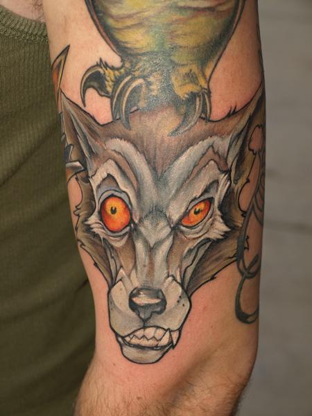 Tattoos - gutterpunk wolf - 62557
