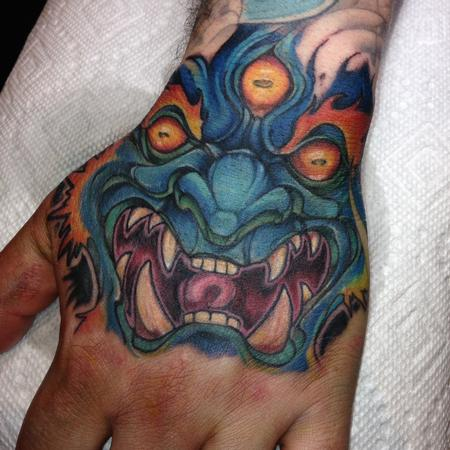 Tattoos - Mara tattoo done forehand on a hand at the Detroit show 2015 by Kelly  Gormley  - 101141