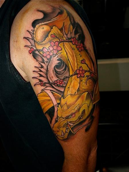 Tattoos - Fun with dragon fish fusion  - 70580