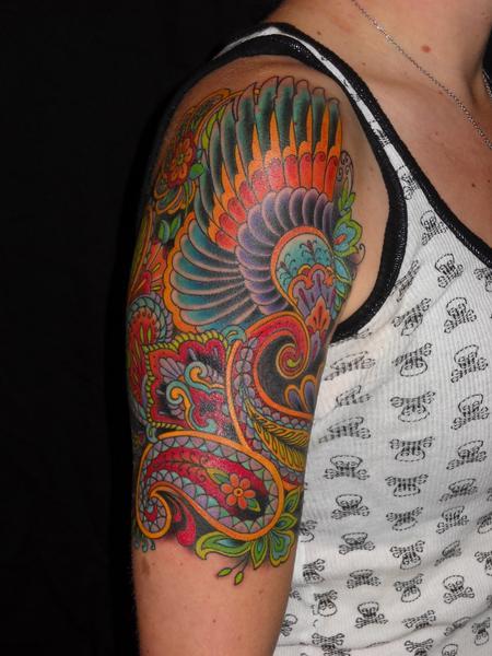 Jim Miner - decorative arm tattoo