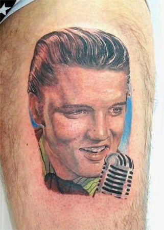 Tattoos - Young Elvis Tattoo - 38592