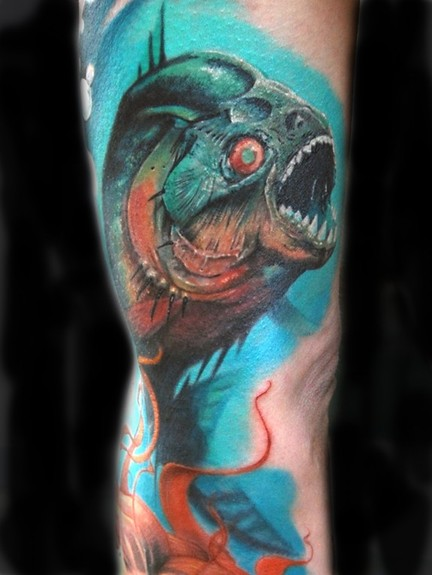 Tattoos - Pirahna Tattoo - 50607