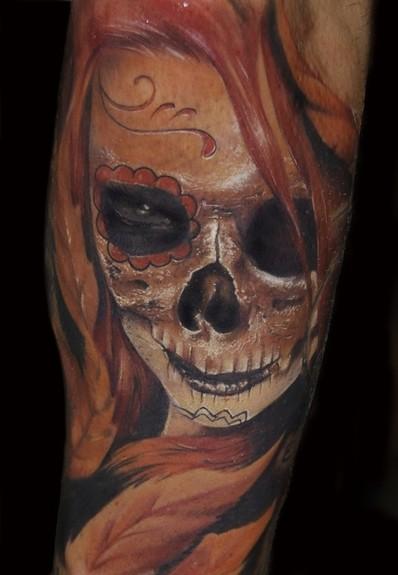 Tattoos - Day of the dead skull - 50610