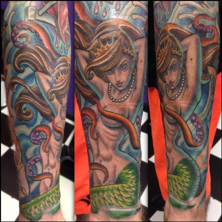 Tattoos - Color Mermaid - 95131