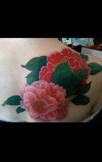 Tattoos - Color Flower Tattoo - 65946