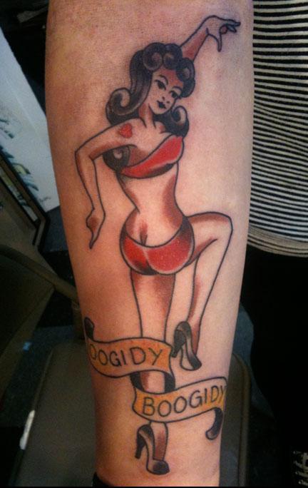 Tattoos - Traditional Pin up Tattoo - 65947