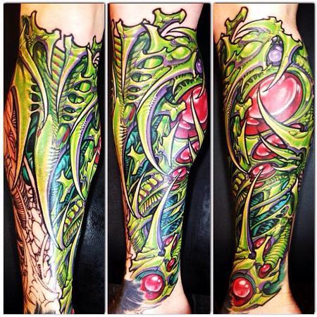 Tattoos - Bio Sleeve in progress - 78464