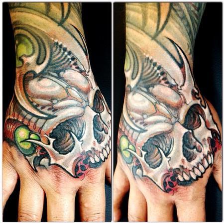 Tattoos - Skull hand tattoo - 78463