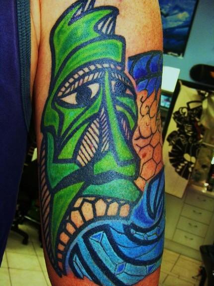 Tattoos - Tiki Head Tattoo - 49429