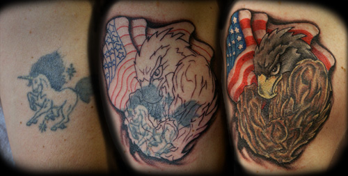 Tattoos - EAGLE COVER-UP - 30015