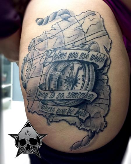 Tattoos - Map and Compass - 116075