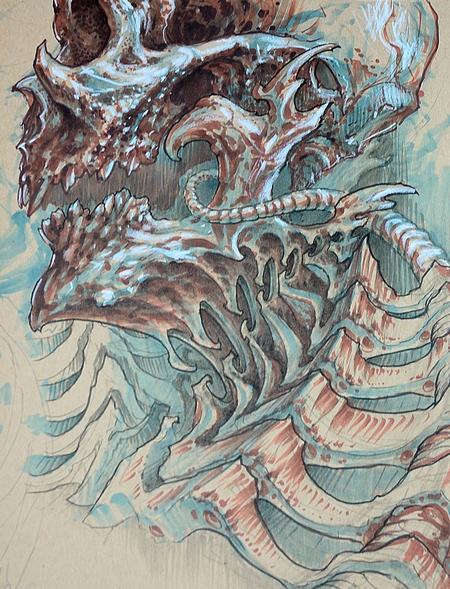 Brad Wooten - Skull splode neck