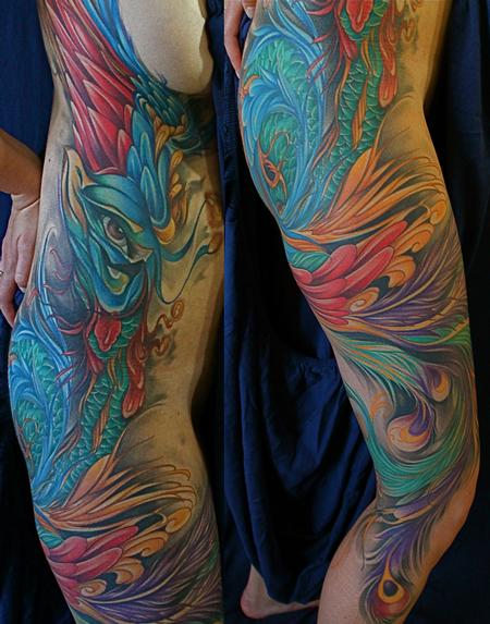 Tattoos - Peacock color Tattoo - 67605