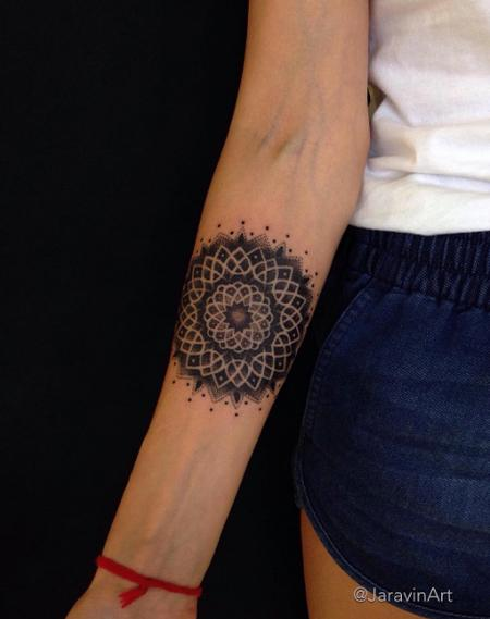 Tattoos - Forearm Mandala Tattoo - 120041