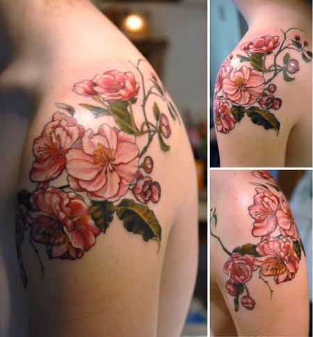 Tattoos - apple blossom flower tattoo - 131945