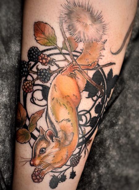 Aubrey Mennella - Art Nouveau Chipmunk Tattoo