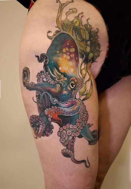 Aubrey Mennella - octopus tattoo