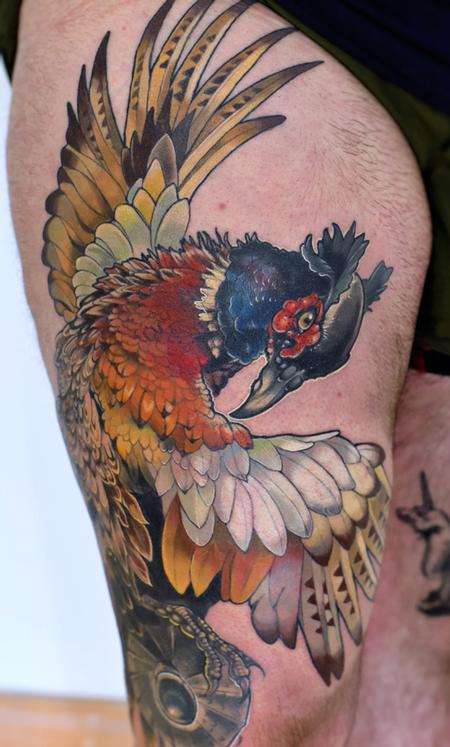 Tattoos - pheasant tattoo - 141011