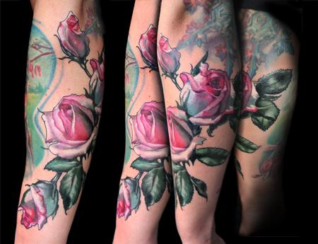 Tattoos - pink rose tattoo - 131958