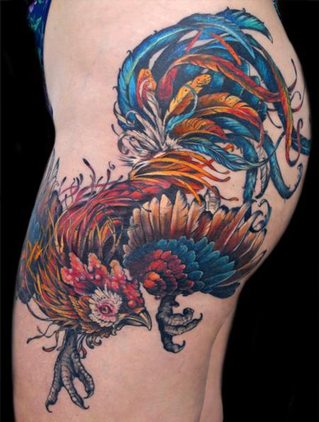 Tattoos - rooster tattoo - 131957