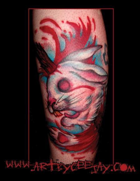 Tattoos - Dead Bunny Tattoo - 63536