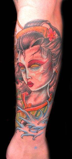Danny Warner - Geisha Girl Tattoo