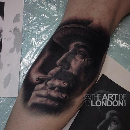 Tattoos - Daniel Plainview Daniel Day Lewis There Will Be Blood Portrait Tattoo - 93986