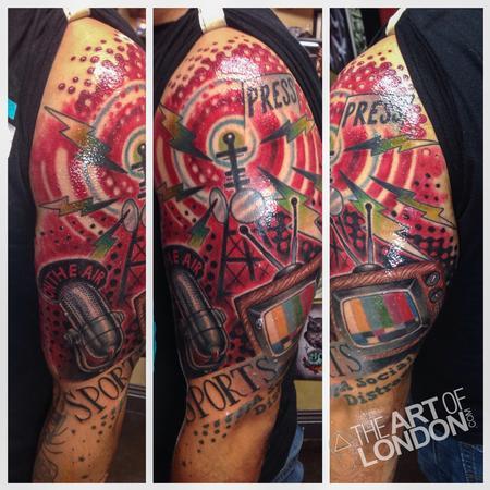 Tattoos - Media Journalism Half Sleeve - 91754