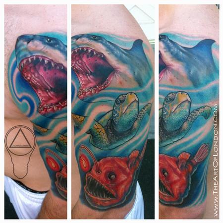 Tattoos - Ocean Sea Life Fish Tattoo - 67307
