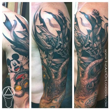 Tattoos - Batman Mickey Mouse Octopus Brawl! - 68514