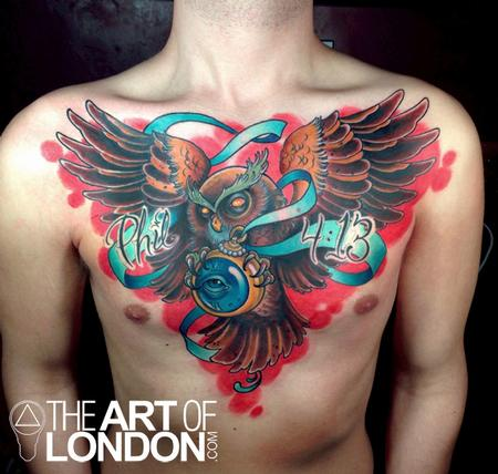 London Reese - Owl Chest Piece