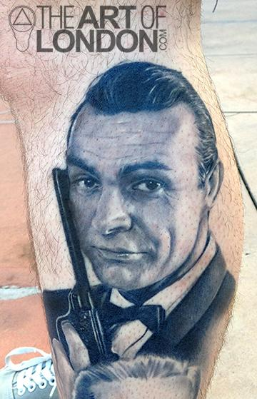 Sean Connery 007 James Bond Portrait By London Reese Tattoonow