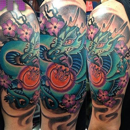 Tattoos - Blue dragon neo jap pop - 106271