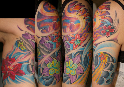 Tattoos - Asian Flowers - 27567
