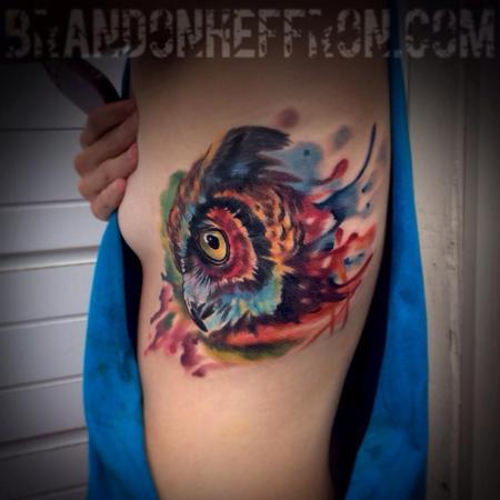 Tattoos - Owl watercolor - 94865