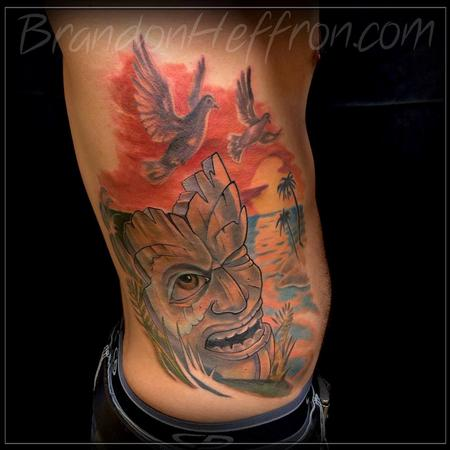 Tattoos - Tiki with landscape - 82370