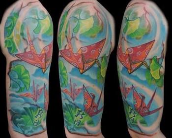 Tattoos - Paper Cranes - 40092