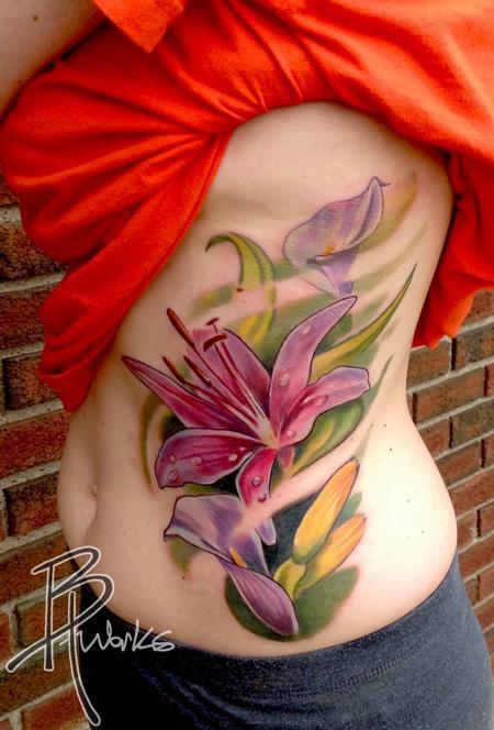 Tattoos - Flower Side Piece - 76882