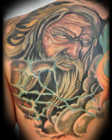 Tattoos - Zeus Back Panel - 66147