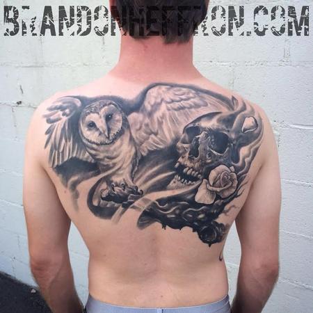 Tattoos - Deftones inspired backpiece - 98709